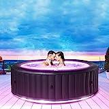 Produkt: Miweba MSpa aufblasbarer Whirlpool Aurora U-AU06 Outdoor für 6 Personen - inkl. LED RGB - inkl. Ozon & UV-C-Reinigung - TÜV GS geprüft - Pool aufblasbar (Preisvergleich)