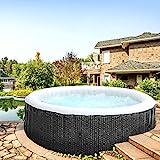 Produkt: BRAST Whirlpool aufblasbar MSpa Ottoman 6 Personen Ø204x70cm In- Outdoor Pool 138 Massagedüsen Timer Heizung Aufblasfunktion TÜV (Preisvergleich)