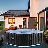 Produkt: Arebos Whirlpool Corfu mit LED-Beleuchtung   6 Farben   aufblasbar   quadratisch   In- & Outdoor   4 Personen   100 Massagedüsen   mit Heizung   600 L Liter   Inkl. Abdeckung   Wellness & Massage (Preisvergleich)