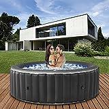 Produkt: Miweba MSpa aufblasbarer Whirlpool 2021 Comfort Bergen C-BE041 - für 4 Personen - 118 Luftdüsen - 180.0 x 180.0 x 70.0 cm - Pool aufblasbar (Anthrazit) (Preisvergleich)