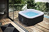 Produkt: Arebos aufblasbarer Whirlpool In-Outdoor - 4 Personen – 130 Düsen - 154 x 154 cm – 550 Liter - Spa Pool - Massage, Heizung, Wellness (Preisvergleich)