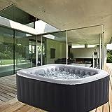 Produkt: Whirlpool MSpa aufblasbar für 4 Personen 158x158cm In-Outdoor Pool 108 Massagedüsen Timer Heizung Aufblasfunktion per Knopfdruck Bubble Spa Wellness Massage (Preisvergleich)