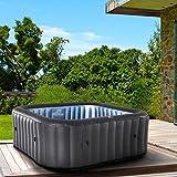 Produkt: Whirlpool aufblasbar MSpa Tekapo für 6 Personen 185x185cm In-Outdoor Pool 132 Massagedüsen Timer Heizung Aufblasfunktion per Knopfdruck TÜV geprüft Bubble Spa Wellness Massage (Preisvergleich)