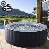 Produkt: Miweba MSpa aufblasbarer Whirlpool Outdoor - 6 Personen – 132 Düsen - 204 x 70 cm – Tüv GS geprüft - Silver Cloud D-SC06 – 930 Liter (Preisvergleich)