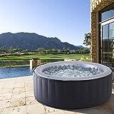 Produkt: BRAST Whirlpool MSpa aufblasbar für 4 Personen SPA Ø180x70cm In-Outdoor Pool 118 Massagedüsen Timer Heizung Aufblasfunktion per Knopfdruck TÜV geprüft Bubble Spa Wellness Massage (Preisvergleich)