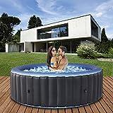 Produkt: Miweba MSpa aufblasbarer Whirlpool 2021 Comfort Bergen C-BE061 - für 6 Personen - 138 Luftdüsen - 204.0 x 204.0 x 70.0 cm - Pool aufblasbar (Anthrazit/Blau) (Preisvergleich)
