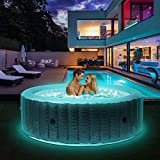 Produkt: Miweba MSpa aufblasbarer Whirlpool 2021 Starry C-ST061 Outdoor - inkl. LED Band - 138 Düsen - 204 x 70 cm - Tüv GS geprüft - 930 Liter - Pool aufblasbar (Comfort Starry 6 Personen) (Preisvergleich)