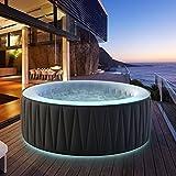 Produkt: Miweba MSpa aufblasbarer Whirlpool Aurora D-AU06 Outdoor - inkl. LED RGB - für 6 Personen - 138 Düsen - 204 x 70 cm - Tüv GS geprüft - 930 Liter - Pool aufblasbar (Delight Aurora 6 Personen) (Preisvergleich)