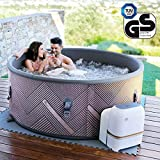 Produkt: Miweba MSpa aufblasbarer Whirlpool Concept Mono C-MO069 Outdoor – Ultradünn – für 6 Personen - 138 Düsen - 173 x 65 cm - Tüv GS geprüft - 930 Liter - Pool aufblasbar (Preisvergleich)