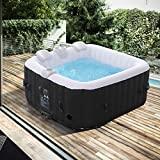 Produkt: Arebos Whirlpool Florence | aufblasbar | In- & Outdoor | 4 Personen | 100 Massagedüsen | mit Heizung | 600 Liter | Inkl. Abdeckung | Bubble Spa & Wellness Massage (Preisvergleich)