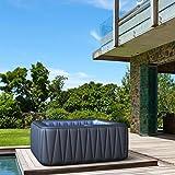 Produkt: Whirlpool MSpa aufblasbar für 6 Personen SPA 185x185cm In-Outdoor Pool 132 Massagedüsen Timer Heizung Aufblasfunktion per Knopfdruck TÜV geprüft Bubble Spa Wellness Massage (Preisvergleich)