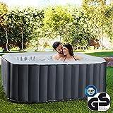 Produkt: Miweba MSpa aufblasbarer Whirlpool Outdoor - 6 Personen – 132 Düsen - 185x185 cm – Tüv GS geprüft - Alpine D-AL06 – 930 Liter (Preisvergleich)