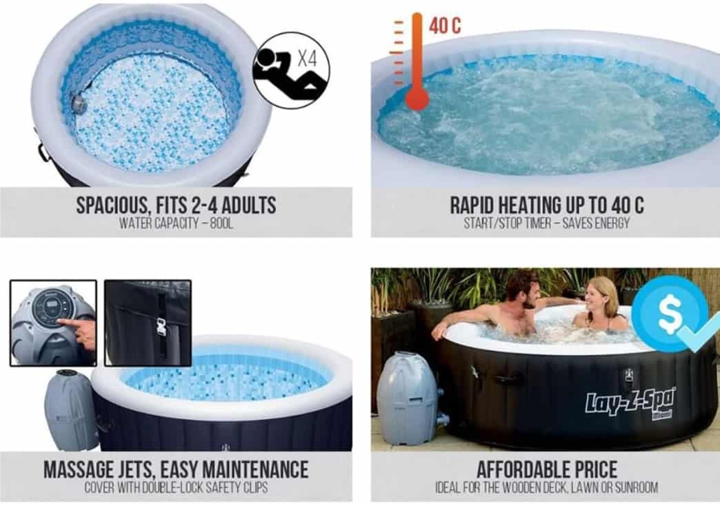 Funktionen des Lay-Z-Spa MiamiWhirlpools
