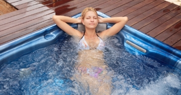 Im Whirlpool baden bei Erkältung