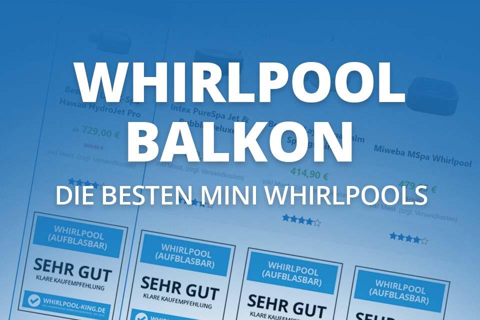 Mini Whirlpool für den Balkon (inkl. 2 Personen Whirlpool)
